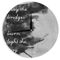 KESS InHouse Skye Zambrana 'Bridges' Wall Clock