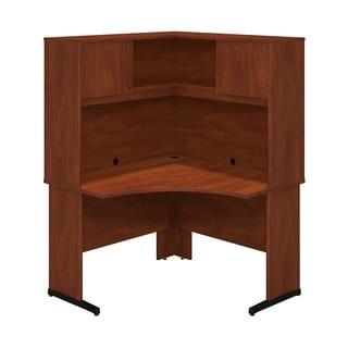 Bush Business Furniture Series C Hansen Cherry Corner Desk with Hutch