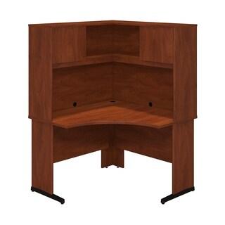 Series C Elite 48W x 48D C Leg Corner Desk with Hutch in Hansen Cherry