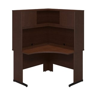 Bush Business Furniture Series C Elite Mocha Cherry Corner Desk with Hutch