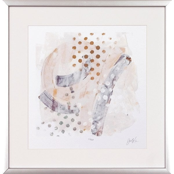 'Intangible' Silver Wood-framed Abstract Fine Art Giclee Print