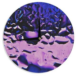 KESS InHouse Maynard Logan 'Window Purple' Wall Clock