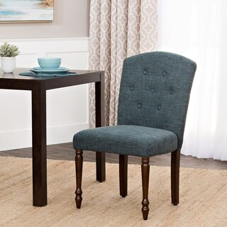 HomePop Delilah Button Tufted Dining Chair-Deep Teal-Single