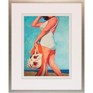 Art Virtuoso 'Classic Swimmer' Silvertone Wood Framed Art Print