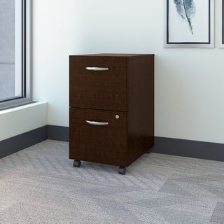 Bush Business Furniture Series C2 Mocha Cherry Drawer Mobile Pedestal
