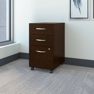 Bush Business Furniture Series C Mocha Cherry 3-drawer Mobile Pedestal File Cabinet