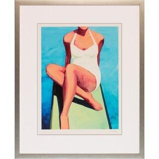 Classic Swimmer' Silver-framed Art Print