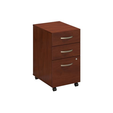 Series C Elite 3 Drawer Mobile File Cabinet in Hansen Cherry