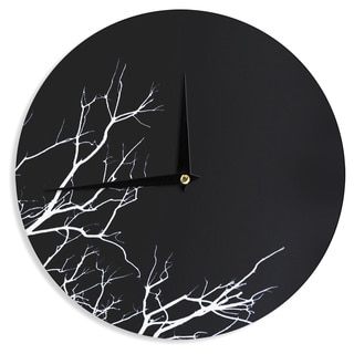 KESS InHouse Skye Zambrana 'Winter Black' Wall Clock