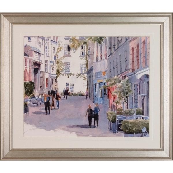 Watercolor Street Scenes Horizontal Framed Art Print