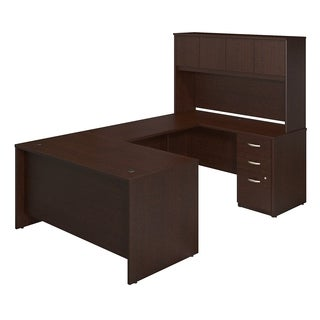 Bush Business Furniture Series C Elite Mocha Cherry U-station Desk With Storage