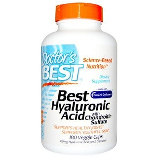 Doctor's Best Hyaluronic Acid with Chondroitin Sulfate (180 Capsules)