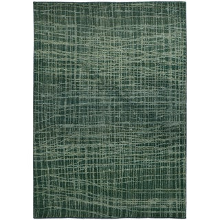 Pantone Universe Expressions Abstract Blue/ Green Rug (9'9 x 12'2) (As Is Item)