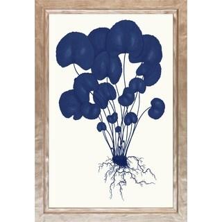 'Blue Silhoutte Ferns' Framed Art Print
