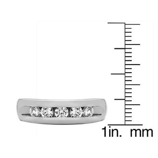 Sterling Silver Wide Channel Set Men's Ring With Black Diamonds (0.75 Cts.)