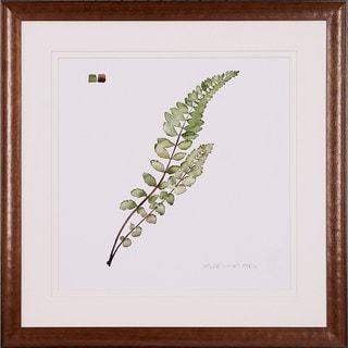 Grece Popp Multicolored Wooden Watercolor Leaf-themed Framed Art Print