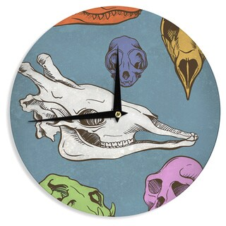 KESS InHouse Sophy Tuttle 'Skulls' Wall Clock