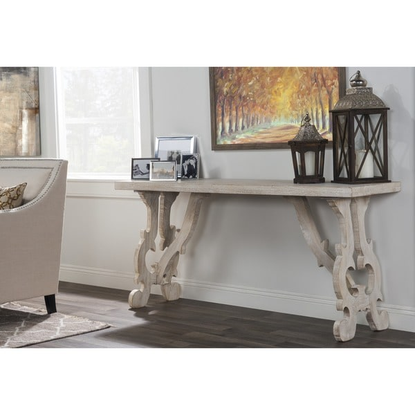 Elliott Rustic Hand Crafted Wood Console Table By Kosas