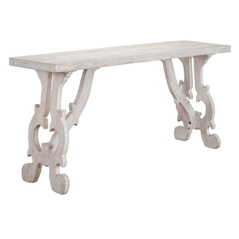 Elliott Rustic Hand Crafted Wood Console Table by Kosas Home