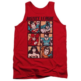 JLA/Rough Panels Adult Tank in Red