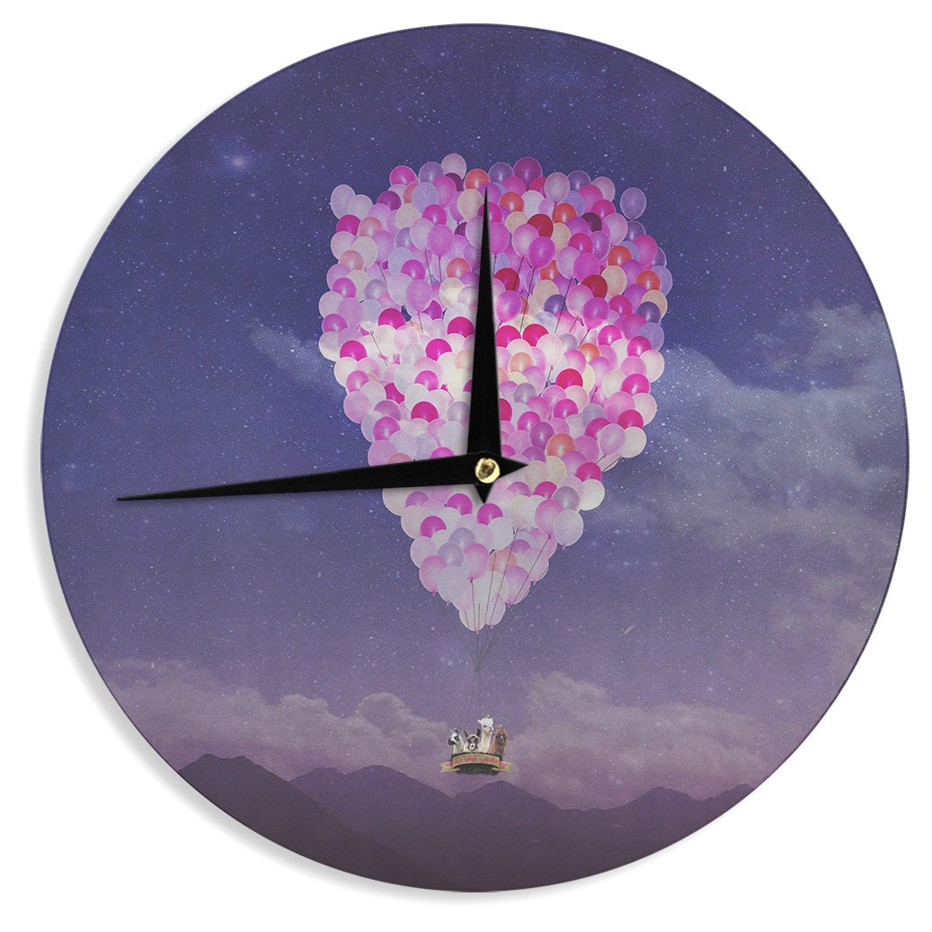 Kess InHouse Monika Strigel 'Never Stop Exploring IV' Wall Clock