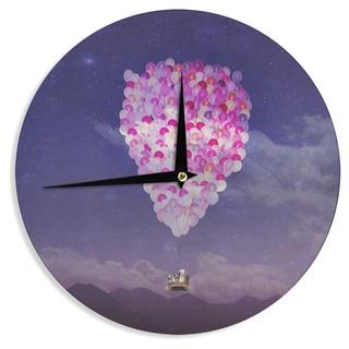 KESS InHouse Monika Strigel 'Never Stop Exploring IV' Wall Clock