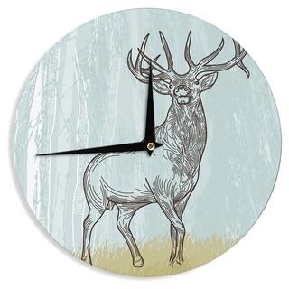 KESS InHouse Sam Posnick 'Elk Scene' Wall Clock