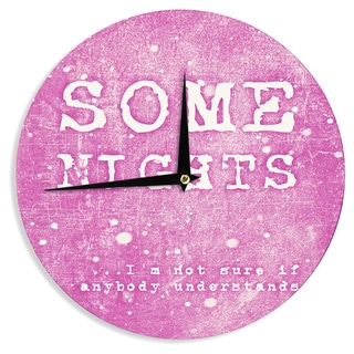 KESS InHouse Monika Strigel 'Some Nights' Wall Clock