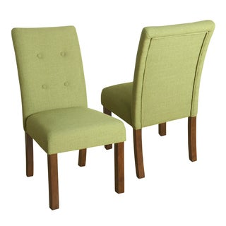 HomePop Kristin Tufted Dining Chair - Set of 2 - Garden Green