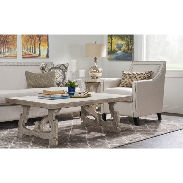 Beautiful Hand Coffee Table Part - 6: Elliott Rustic Hand Crafted Wood Coffee Table By Kosas Home