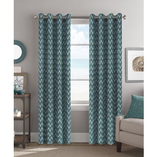 Colordrift Tribal Chevron 84-inch Grommet-top Single Curtain Panel