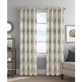Colordrift Cadence 84-inch Grommet-top Single Curtain Panel