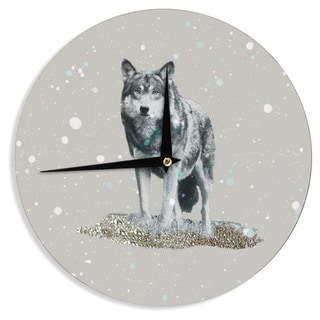 KESS InHouse Monika Strigel 'Wolf' Wall Clock