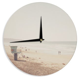 KESS InHouse Myan Soffia 'Beach Day' Beach Ocean Wall Clock