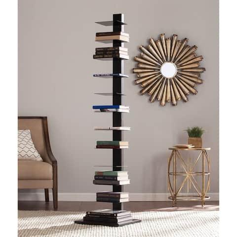 Porch & Den Denargo Black Spine Tower Shelf