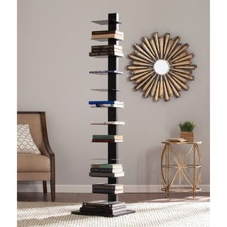 Porch & Den Denargo Black Spine Tower Shelf