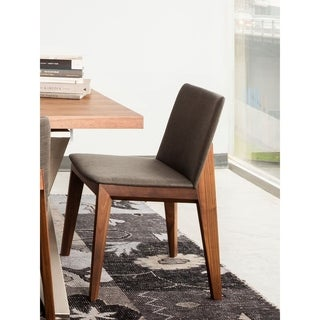 Aurelle Home Grey Modern Dining Chair (Set of 2)