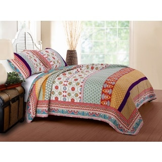 Greenland Home Fashions Thalia 3-piece Cotton Quilt Set