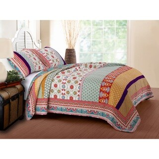 Greenland Home Fashions  Thalia 3-piece Boho Cotton Quilt Set