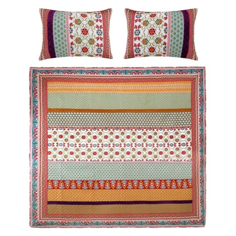 Greenland Home Fashions Thalia 3-piece Cotton Quilt Set