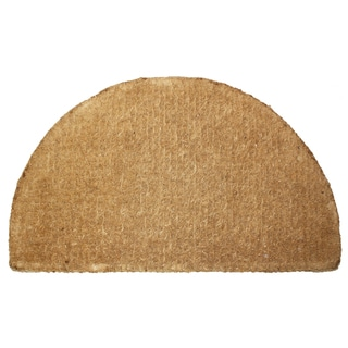 "J & M Home Fashions 4218 20"" X 33"" Coco Plain Round Doormat"