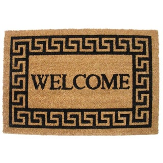 "J & M Home Fashions 4191 19.5"" X 29"" Greek Key Welcome Doormat"