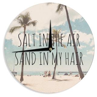 KESS InHouse Nastasia Cook 'Salt in the Air' Beach Trees Wall Clock