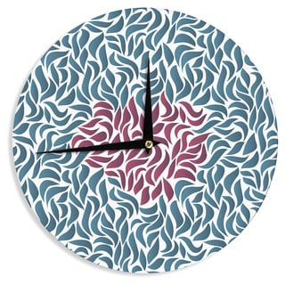 KESS InHouse Nick Atkinson 'Desire' Maroon Teal Wall Clock