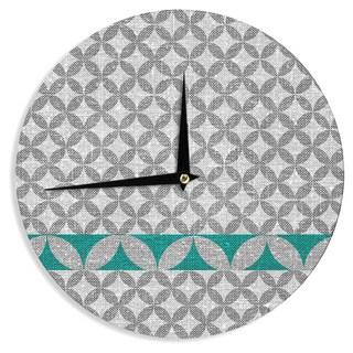 KESS InHouse Nick Atkinson 'Diamond Turquoise' Wall Clock