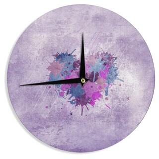 KESS InHouse Nick Atkinson 'Painted Heart' Wall Clock