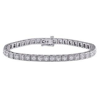 Miadora Signature Collection 14k White Gold 2 3/4ct TDW Diamond Tennis Bracelet (G-H, SI1-SI2)