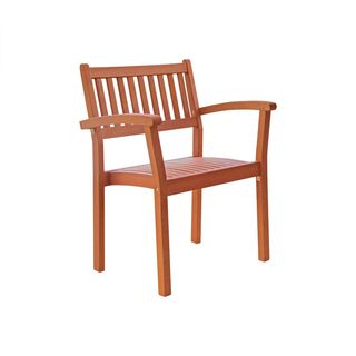 Eco-friendly Outdoor Hardwood Stacking Garden Chairs (Set of 2)
