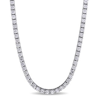 Miadora Signature Collection 18k White Gold 12 3/4ct TDW Diamond Eternity Necklace (G-H, I1-I2)