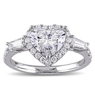 Miadora Signature Collection 14k White Gold 2 1/4ct TDW Heart and Round-Cut Diamond Engagement Ring|https://ak1.ostkcdn.com/images/products/12527625/P19331920.jpg?impolicy=medium